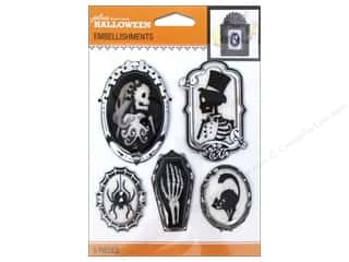Jolee's Boutique Halloween Embellishments Cameos Black & White