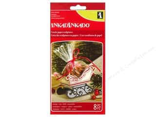 Clearance Plaid Stamps Clear: Inkadinkado Clear Stamp Paper Sculpture Sleigh