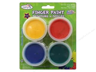 Multicraft Krafty Kids Finger Paint Tub Assorted Primary 4 Pack