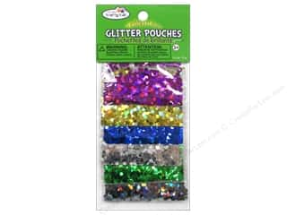 craft & hobbies: Multicraft Krafty Kids Glitter Pouches 12g Big Hexagon