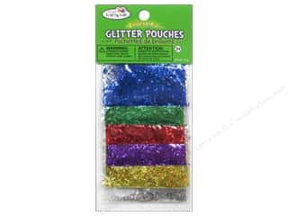 craft & hobbies: Multicraft Krafty Kids Glitter Pouches 12g Bar Glitter