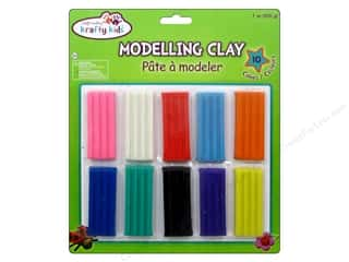 craft & hobbies: Multicraft Krafty Kids Modeling Clay 7 oz. 10 Pack Assorted Colors