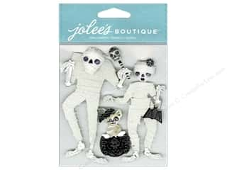 Jolee's Boutique Embellishments Wrapped Mummies Black & White