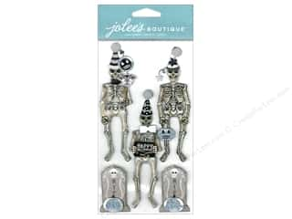 Jolee's Boutique Embellishments Skeletons Black & White
