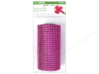 decorative floral: FloraCraft Diamond Wrap Mesh 4 1/4 in. x 2 yd. Fuchsia