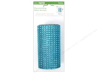 decorative floral: FloraCraft Diamond Wrap Mesh 4 1/4 in. x 2 yd.Turquoise