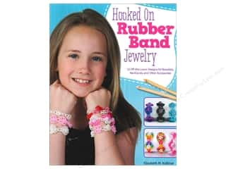 beading & jewelry making supplies: Hooked on Rubber Band Jewelry: 12 Off-the-Loom Designs for Bracelets, Necklaces, and Other Accessories Book by Elizabeth Kollmar