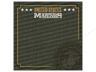 scrapbooking & paper crafts: Paper House 12 x 12 in. Paper Marines Emblem (25 sheets)
