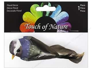 floral & garden: Midwest Design Artificial Birds 4 in. Feather Natural Black Purple and Green 1 pc.