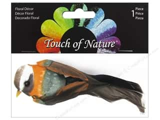 floral & garden: Midwest Design Artificial Birds 4 in. Natural Gold/Olive Feather 1 pc.