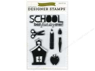 scrapbooking & paper crafts: Echo Park Clear Stamp Set Back-To-School