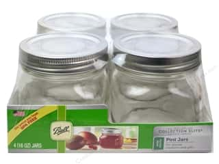 Glass Jars / Plastic Jars: Ball Elite Mason Jars 4 pc. Wide Mouth 16 oz. Pint