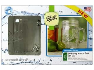 Glass Jars / Plastic Jars: Ball Drinking Mason Jars 4 pc. 24 oz. Wide Mouth