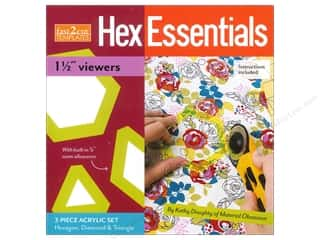 "Stash By C&T Fast2Cut Template Hex Essentials 1.5"" Viewers"