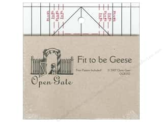 Quilting Rulers: Open Gate Quilts Rulers Fit to Be Geese