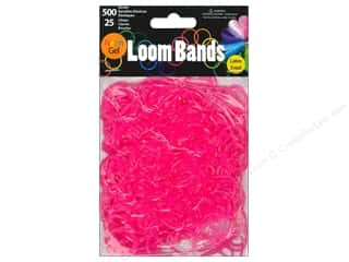 Best of 2013 Midwest Design Loom Bands: Midwest Design Loom Bands 525 pc. Neon Gel Rose Red