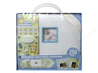 "theme stickers  holidays: K&Company Scrapbook Kit 12""x 12"" Baby Boy"
