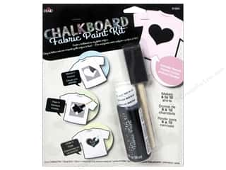 weekly special backing: Plaid Chalkboard Paint Fabric Kit Heart Stencil