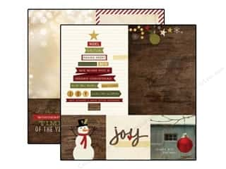 Pattern $4-$6 Clearance: Simple Stories Paper 12 x 12 in. Cozy Christmas Collection 4 x 4 & 6 x 8 Elements (25 sheets)
