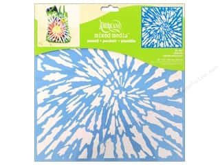 craft & hobbies: DecoArt Americana Mixed Media Stencil 12 x 12 in. Tie Dye