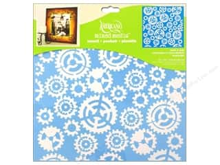 craft & hobbies: DecoArt Americana Mixed Media Stencil 12 x 12 in. Gears