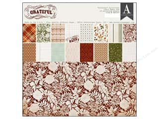 Fall Sale Glue Dots: Authentique 12 x 12 in.  Paper Pad Grateful Collection
