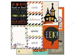 Halloween Spook-tacular: Simple Stories Paper 12 x 12 in. Frankie & Friends Collection 3 x 4 & 4 x 6 Journaling Card Elements (25 sheets)