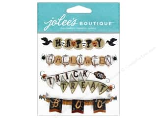 stickers: EK Jolee's Boutique Repeat Vintage Halloween Banner