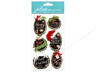 "2"" D rings: Jolee's Boutique Stickers Holiday Rings"