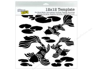 scrapbooking & paper crafts: The Crafter's Workshop Template 12 x 12 in. Koi Pond