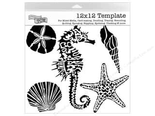 ruler: The Crafter's Workshop Template 12 x 12 in. Sea Creatures