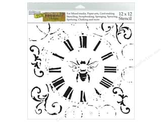 Bees: The Crafter's Workshop Template 12 x 12 in. Bee On Time