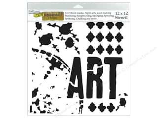 Designers Workshop: The Crafters Workshop Stencil 12 x 12 in. Rebekah Meier Viva La Art