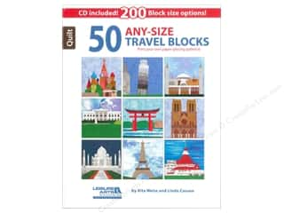Computer Software / CD / DVD: Leisure Arts 50 Any-Size Travel Blocks Book