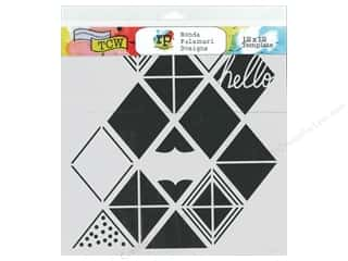Designers Workshop: The Crafter's Workshop Template 6 x 6 in. Diamond Lattice