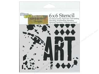 Designers Workshop: The Crafter's Workshop Stencil 6 x 6 in. Viva La Art