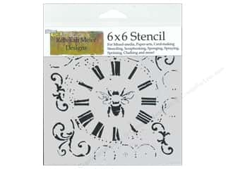 Bees: The Crafter's Workshop Template 6 x 6 in. Bee On Time
