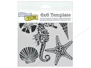 The Crafter's Workshop Template 6 x 6 in. Sea Creatures