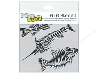 Clearance The Crafters Workshop Template: The Crafter's Workshop Template 6 x 6 in. Fish Fossils