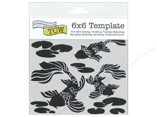 ruler: The Crafter's Workshop Template 6 x 6 in. Koi Pond
