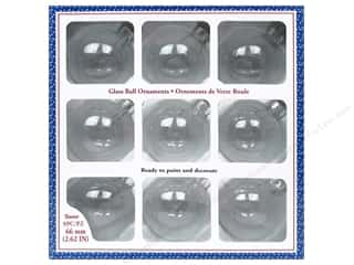 Darice Glass Ball Ornaments 2 5/8 in. Clear 9 pc.