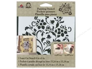 craft & hobbies: Plaid FolkArt Painting Stencils 6 x 6 in. Lovely Floral