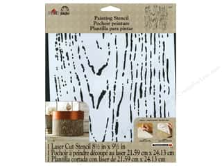 Plaid Stencil 8 1/2 x 9 1/2 in. Faux Bois