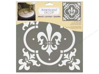 craft & hobbies: DecoArt Americana Decor Stencil 12 x 12 in. Fleur de Lis Tile