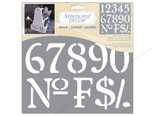 craft & hobbies: DecoArt Americana Number Stencils 12 x 12 in. Olde World