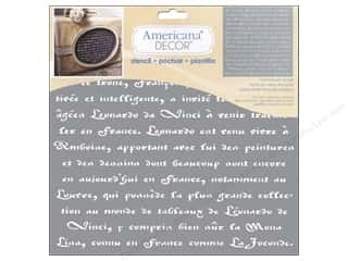craft & hobbies: DecoArt Americana Decor Stencil 12 x 12 in. Old French Script