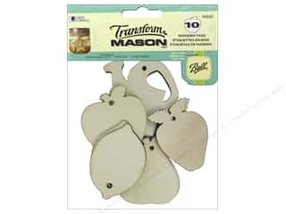 ball mason transform paint: Loew Cornell Transform Mason Wooden Tags 10 pc. Fresh Fruit