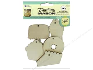 twine: Loew Cornell Transform Mason Wooden Tags 10 pc. Sweet Treats