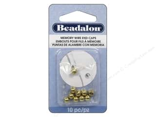 Cap  Findings / Spacer Findings: Beadalon Memory Wire End Caps 5 mm Round 10 pc. Gold Color