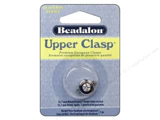 beading & jewelry making supplies: Beadalon Upper Clasp Round Heavy 5/8 in. Crystal Silver